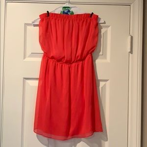 Express Hot Pink Strapless Size XS Dress